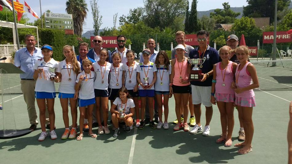 Impresionante resultado del equipo Alevín Femenino del Club Tenis El Collao