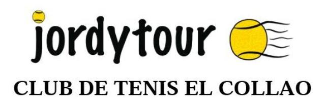 Ordenes de juego para sábado 29 y domingo 30 de septiembre del Torneo Jordytour.
