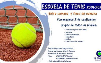 Escuela de Tenis 2019-2020