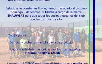 Domingo 2 de Febrero – Clinic SNAUWERT y Paella en el Club de Tenis el Collao.