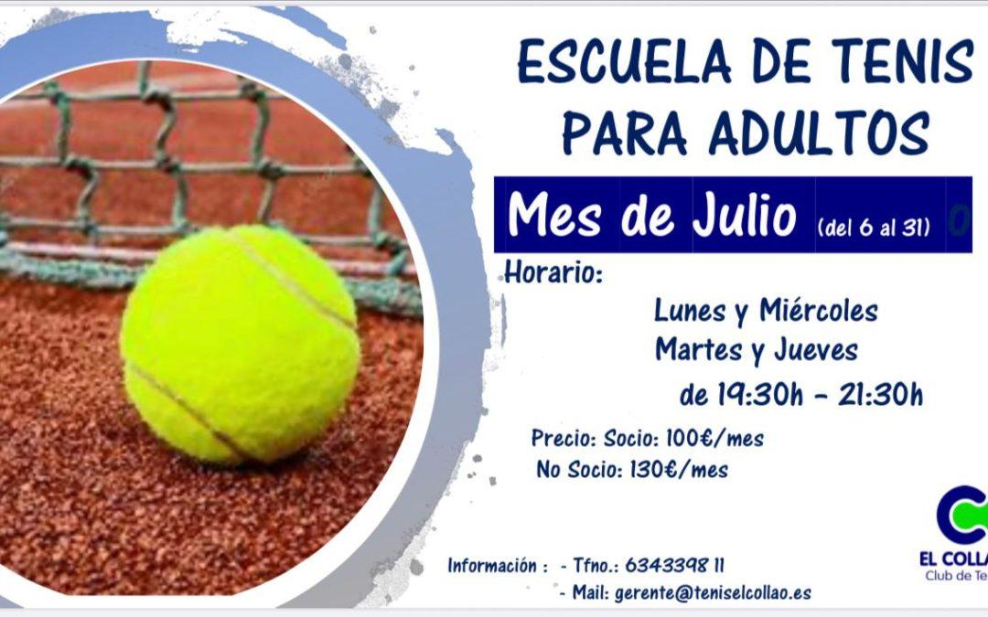 Escuela de Tenis para Adultos en el Club de Tenis el Collao.