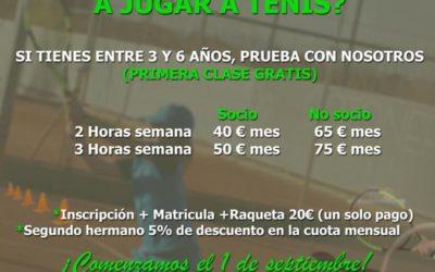 ¿Quieres comenzar a jugar a tenis?…